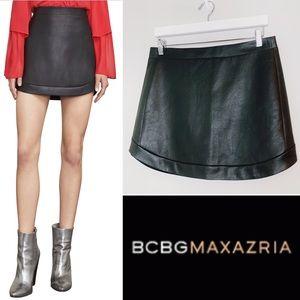 BCBG Kanya Faux Leather Mini Skirt Size Medium